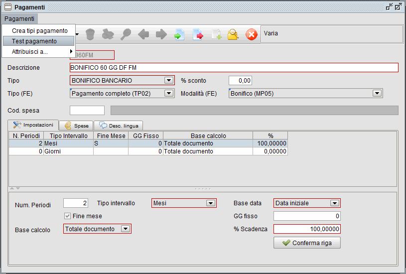 Gestione pagamenti-test| Software gestionale Atlantis Evo