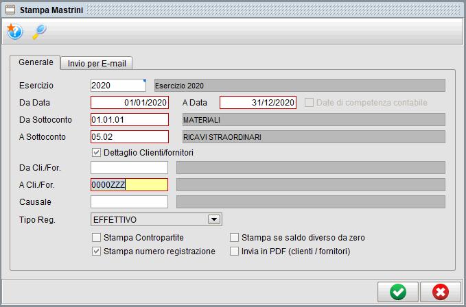 Stampa mastrini-1 | Software contabilità Atlantis Evo