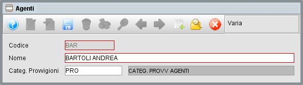 scheda agenti - gestionale Atlantis Evo