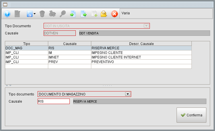 Causali documenti - Software gestionale Atlantis Evo
