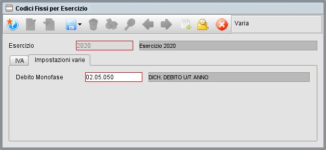 Codici fissi per esercizio | Manuale software gestionale Atlantis Evo