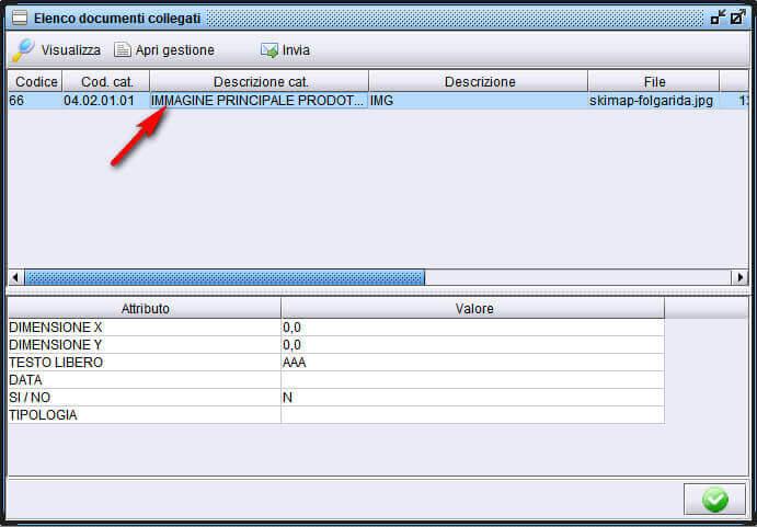 creare collegamento di un documento ad una altra anagrafica-1 - software gestionale Atlantis Evo