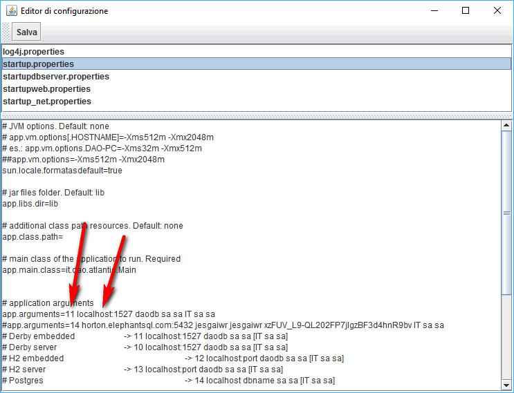 editor di configurazione - software gestionale Atlantis Evo