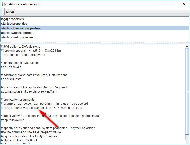 Editor di configurazione 2