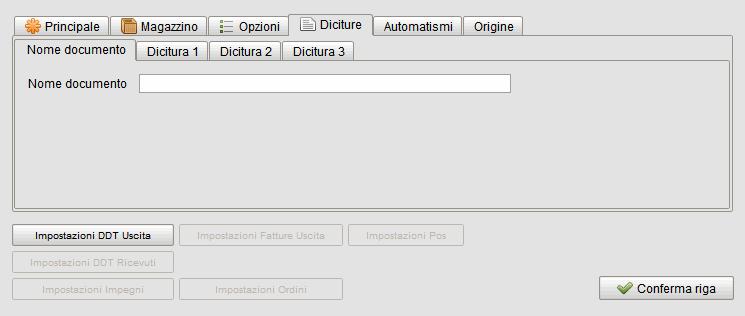 Causali documenti-diciture - Software gestionale Atlantis Evo