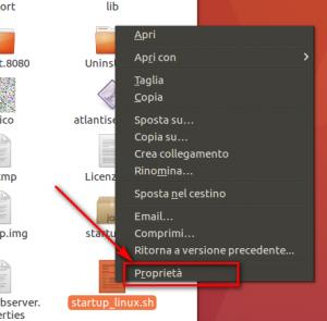 Esecuzione su linux 1