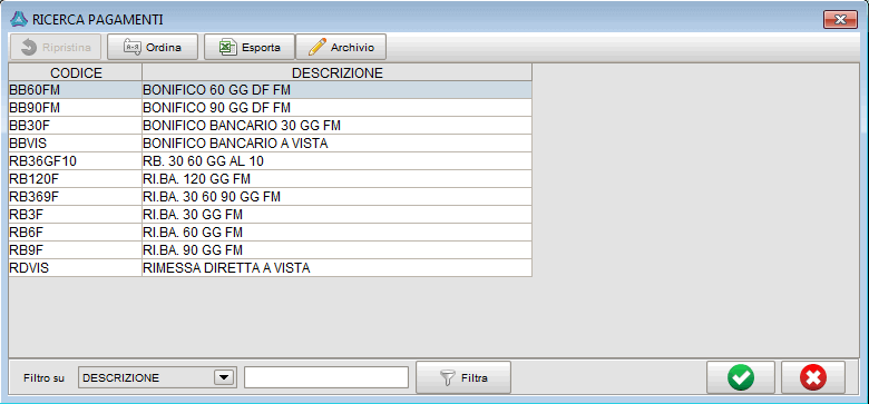 gestione pagamenti - software gestionale Atlantis Evo