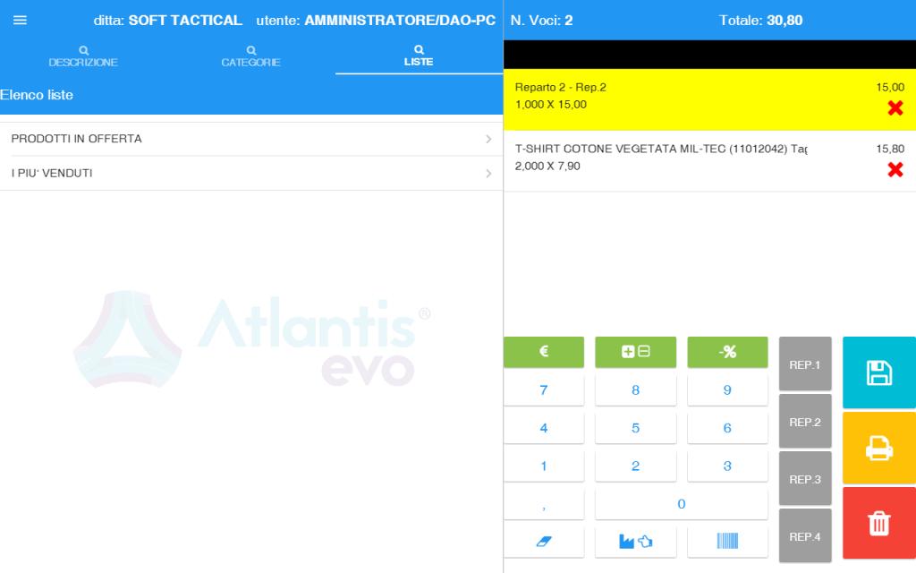 pos scheda 4 - software gestionale Atlantis Evo