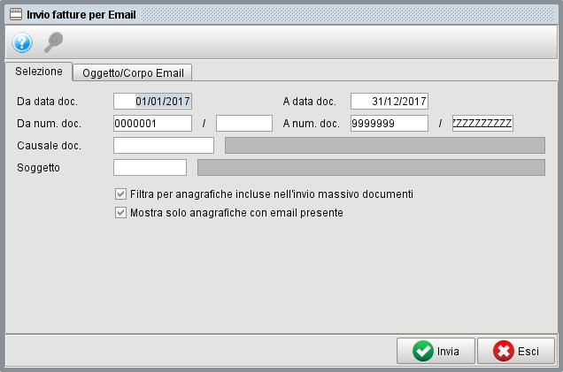 invio fatture massivo per email-1- gestionale Atlantis Evo