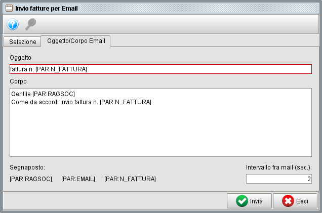 invio fatture massivo per email-2- gestionale Atlantis Evo