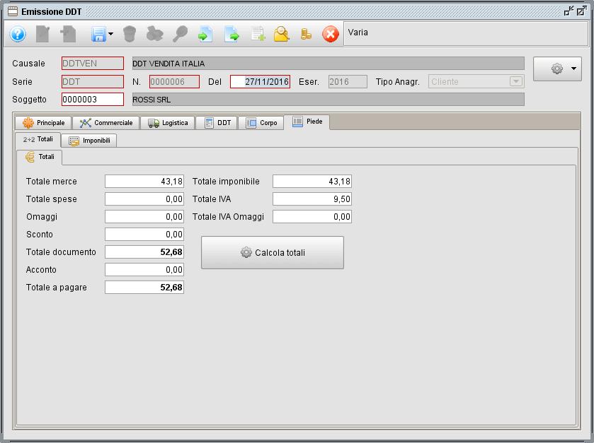 ddt-piede - software gestionale Atlantis Evo
