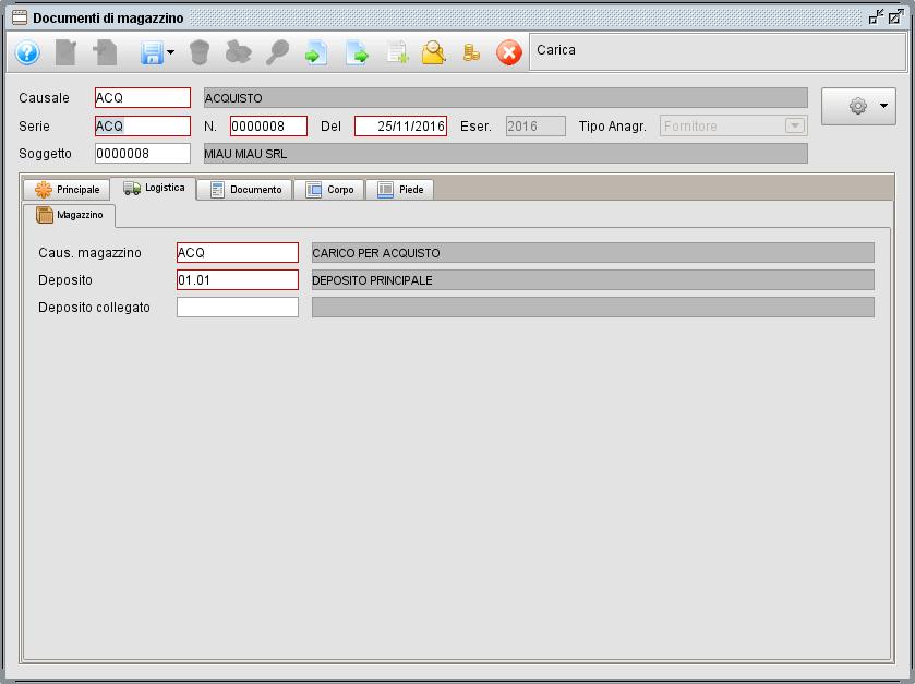 Documento magazzino - logistica - software gestionale Atlantis Evo