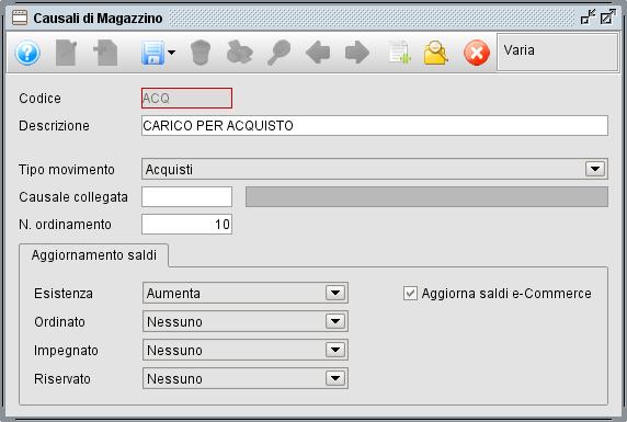 Causali magazzino - Software gestionale Atlantis Evo