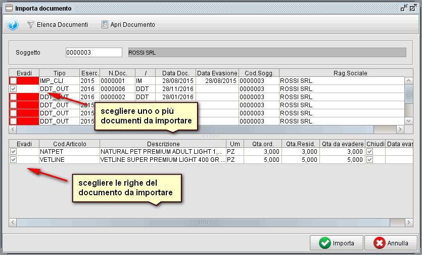 creare fattura da ddt-2 - softtware gestionale Atlantis Evo