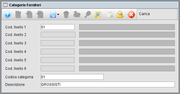 Categorie fornitori - Software gestionale Atlantis Evo