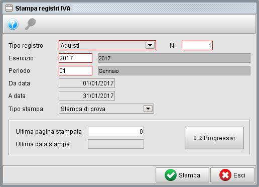 Stampa registri IVA - gestionale Atlantis Evo