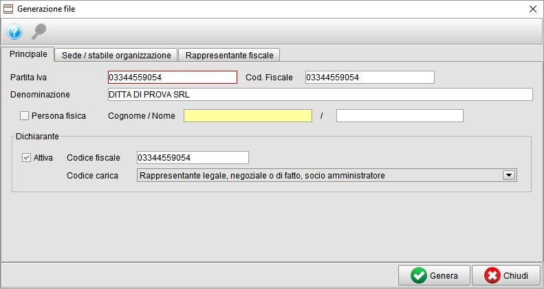 Generazione file spesometro 1 - gestionale Atlantis Evo