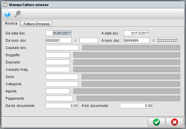 Stampa fatture emesse con il software gestionale Atlantis Evo