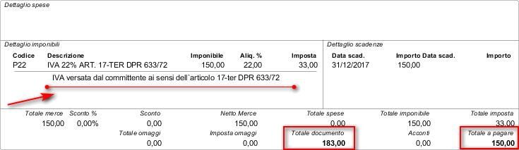 fattura in split payment