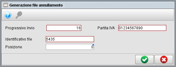 Generazione file annullamento - dati fatture / spesometro