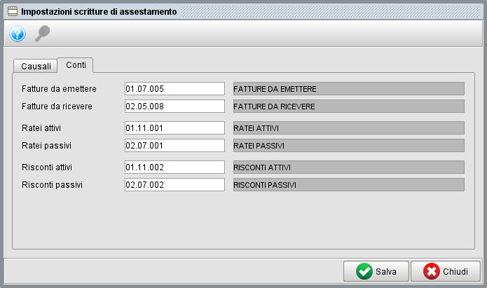 Impostazione scritture rettifica 2 - Software gestionale Atlantis Evo