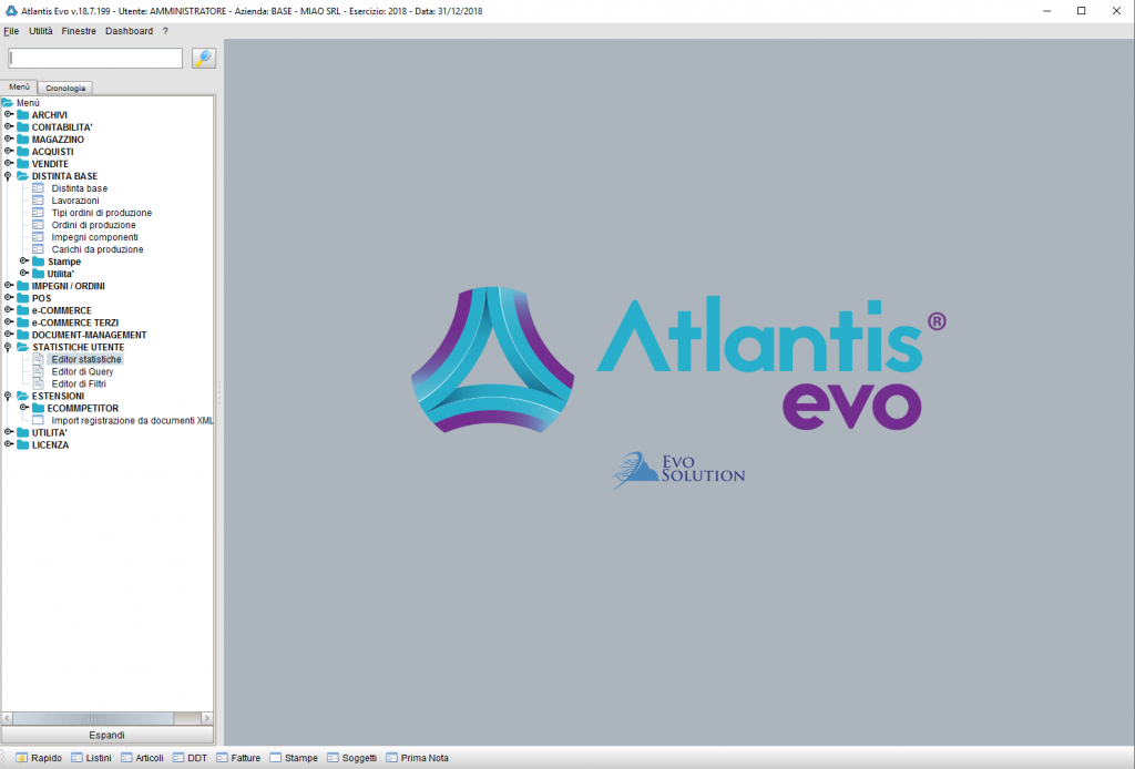 Software gestionale Atlantis Evo